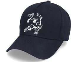 Earlham Curved Peak Black Panther Adjustable - King Apparel