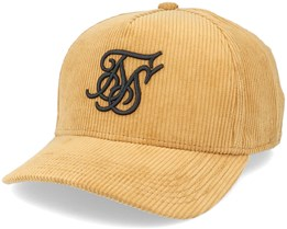 Crushed Corduroy Full Trucker Mustard Adjustable - SikSilk