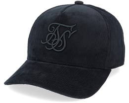 Corduroy Full Trucker Black Adjustable - SikSilk