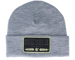 Patch Beanie Grey Marl Cuff - SikSilk