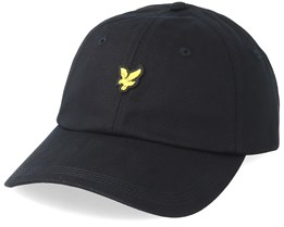 Cotton Twill Baseball Cap True Black Adjustable - Lyle & Scott