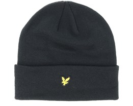 True Black Beanie - Lyle & Scott