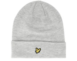 Beanie Light Grey Marl Cuff - Lyle & Scott
