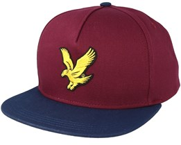 Colour Black Eagle Claret Jug/Dark Navy Strapback - Lyle & Scott