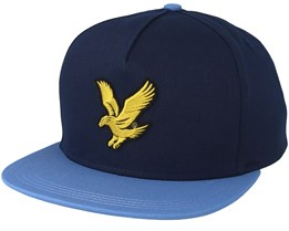 Colour Black Eagle Dark Navy/Cornflower Blue Strapback - Lyle & Scott