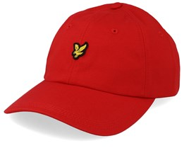 Cotton Twill Baseball Cap Grenadine Red Adjustable - Lyle & Scott