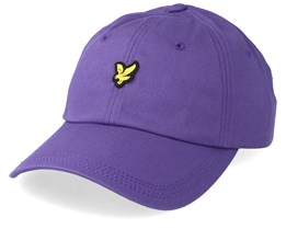 Cotton Twill Baseball Cap Violet Adjustable - Lyle & Scott