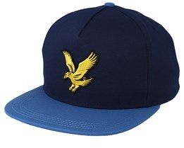 Colour Block Baseball Dark Navy/Lapis Blue Strapback - Lyle & Scott