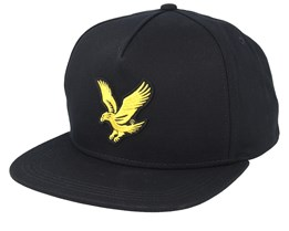 Eagle Cap True Black Strapback - Lyle & Scott