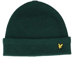 Racked Rib Beanie Jade Green Cuff - Lyle & Scott