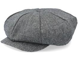 Marl Tweed Big Apple Black Flat Cap - Jaxon & James