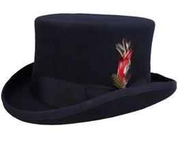 Mid-Crown Black Top Hat - Jaxon & James