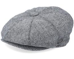 Herringbone Newsboy Grey Flat Cap - Jaxon & James