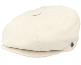 Cotton Newsboy Beige Flat Cap - Jaxon & James