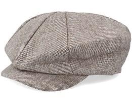 Marl Tweed Big Apple Brown Flat Cap - Jaxon & James