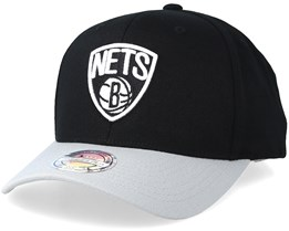 Boston Nets 2 Tone Black/Grey 110 110 Adjustable - Mitchell & Ness