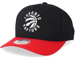 Toronto Raptors 2 Tone Black/Red 110 Adjustable - Mitchell & Ness