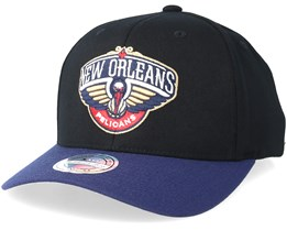 cdf74aaa199aa New Orleans Pelicans 2 Tone Black Navy 110 Adjustable - Mitchell   Ness