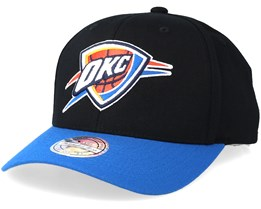 Oklahoma City Thunder 2 Tone Black/Blue 110 Adjustable - Mitchell & Ness