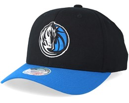 Dallas Mavericks 2 Tone Black/Blue 110 Adjustable - Mitchell & Ness