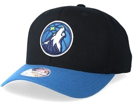 Minnesota Timberwolves 2 Tone Black/Blue 110 Adjustable - Mitchell & Ness