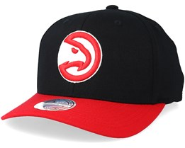 Atlanta Hawks 2 Tone Black/Red 110 110 Adjustable - Mitchell & Ness