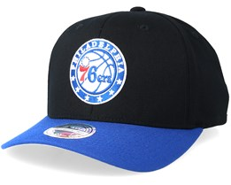 Philadelphia 76ers 2 Tone Black/Royal Adjustable - Mitchell & Ness