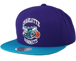 Charlotte Hornets 2 Tones Purple Teal Snapback - Mitchell   Ness 8ca49d66a0e