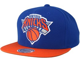 New York Knicks 2 Tone Blue/Orange Snapback - Mitchell & Ness