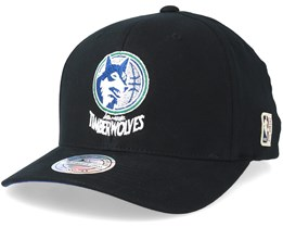 Minnesota Timberwolves Intl323 HWC Black 110 Adjustable - Mitchell & Ness