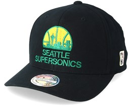 33fa87d9f6d Seattle Supersonics Intl323 HWC Black Yellow Green Adjustable - Mitchell    Ness