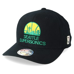 449d4abe222 Mitchell   Ness Seattle Supersonics Intl323 HWC Black Yellow Green  Adjustable - Mitchell   Ness  29.99