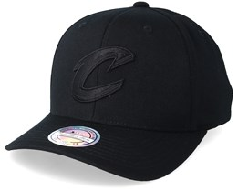 Cleveland Cavlaiers Black On Black 110 Adjustable - Mitchell & Ness
