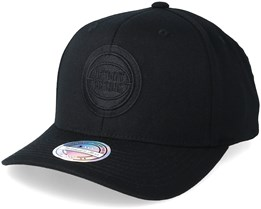Detroit Pistons Black On Black 110 Adjustable - Mitchell & Ness