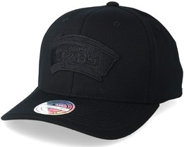 San Antonio Spurs Black On Black 110 Adjustable - Mitchell & Ness
