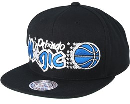 Orlando Magic Wool Solid Black/Blue Snapback - Mitchell & Ness