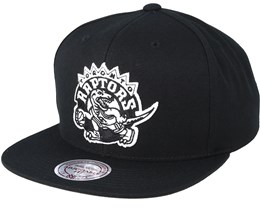 Toronto Raptor Wool Solid Black/White Snapback - Mitchell & Ness