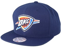 New York Knicks Wool Solid Navy Snapback - Mitchell & Ness
