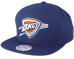 New York Knicks Wool Solid Navy Snapback - Mitchell & Ness