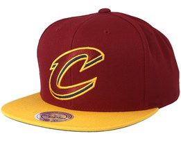 Cleveland Cavaliers 2 Tone Burgundy/Yellow Snapback - Mitchell & Ness