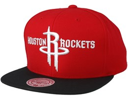 Houston Rockets 2 Tone Red/Black Snapback - Mitchell & Ness