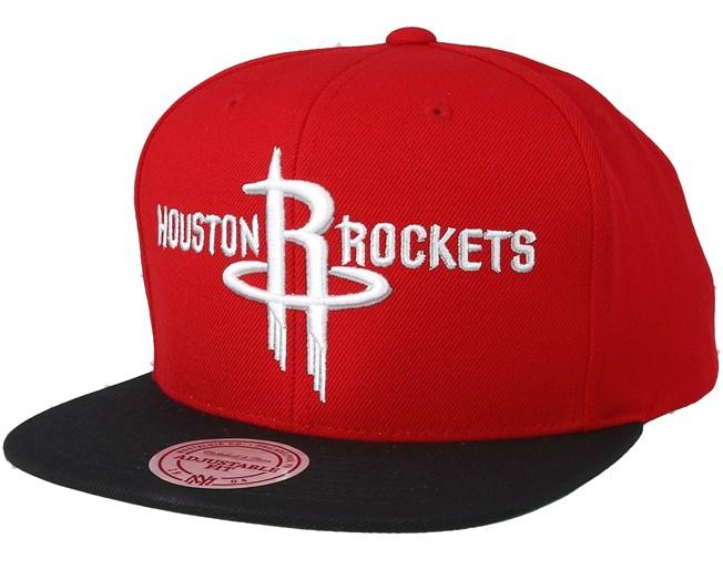 sports shoes 5c9a1 b843d Houston Rockets 2 Tone Red Black Snapback - Mitchell   Ness caps -  Hatstoreworld.com