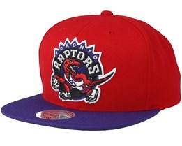 Toronto Raptors 2 Tone Red/Purple Snapback - Mitchell & Ness