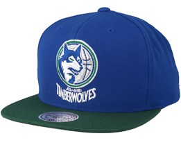 Minnesota Timberwolves 2 Tone Royal/Green Snapback - Mitchell & Ness