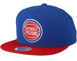 Detroit Pistons 2 Tone Royal/Red Snapback - Mitchell & Ness