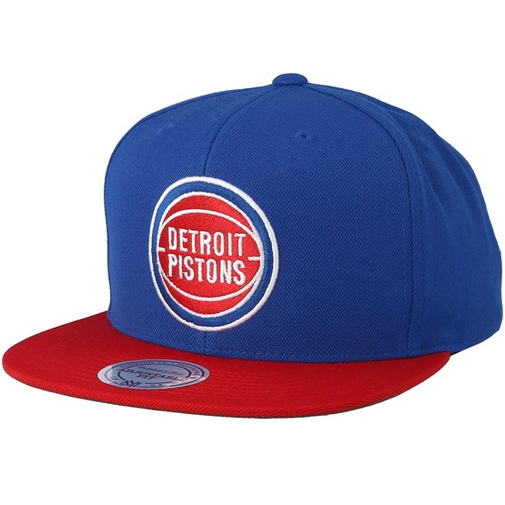 Detroit Pistons 2 Tone Royal Red Snapback - Mitchell   Ness Cappellino -  Hatstore 4902ab7f3cab