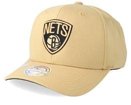 Brooklyn Nets 110 Sand Adjustable - Mitchell & Ness