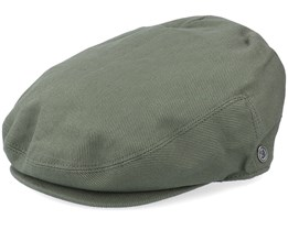 Brushed Cotton Green Flat Cap - Jaxon & James
