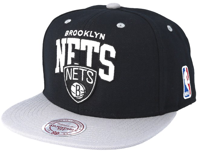 san francisco 5a09e 5001e Brooklyn Nets 2 Tone Team Arch Black Snapback - Mitchell   Ness caps    Hatstore.co.uk