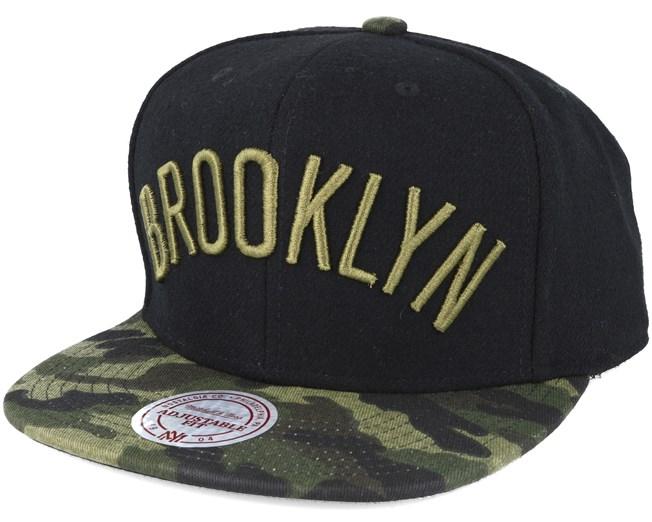 51765d182fe Brooklyn Nets Combat Camo Snapback - Mitchell   Ness caps -  Hatstoreworld.com